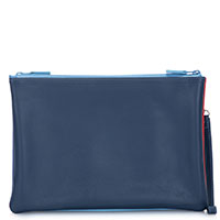 Medium Double Zip Pouch-Royal