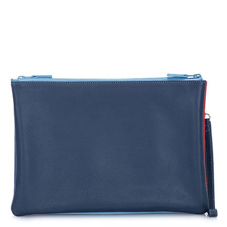 Medium Double Zip Pouch-Royal