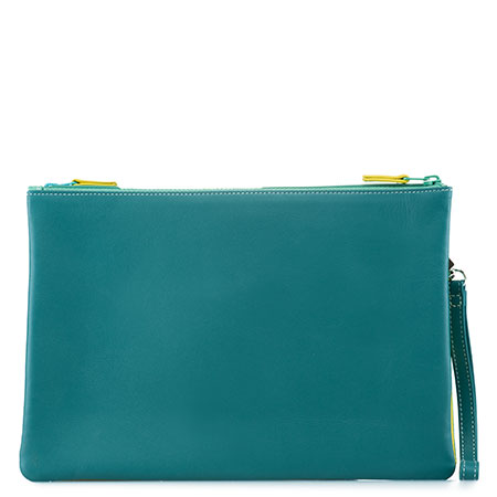 Medium Double Zip Pouch-Mint