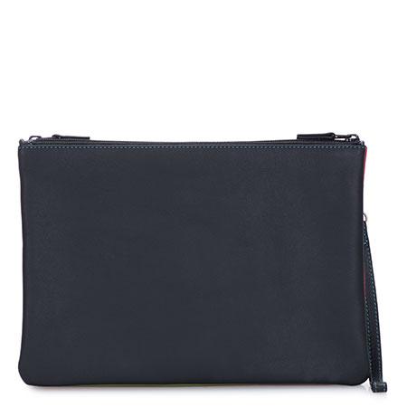 Medium Double Zip Pouch-Black/Pace
