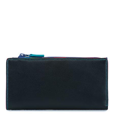 12 CC Zip Wallet-Black/Pace
