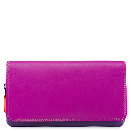 Flapover Wallet with Coin Section-Sangria Multi