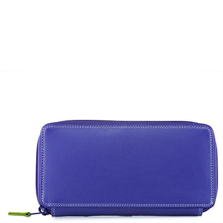 Large Zip Around Purse-Lavender