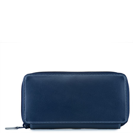 Large Zip Around Purse-Royal