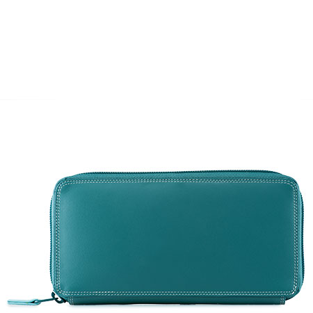 Large Zip Around Purse-Mint
