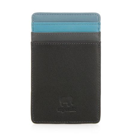 N/S Credit Card Holder-Black Grey
