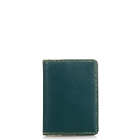 Credit Card Holder w/Plastic Inserts-Evergreen