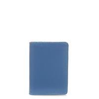 Credit Card Holder w/Plastic Inserts-Aqua