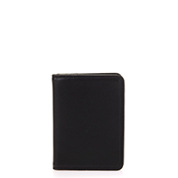 Credit Card Holder w/Plastic Inserts-Black