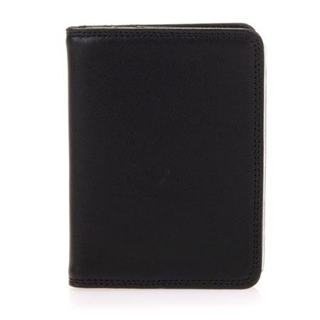 Credit Card Holder w/Plastic Inserts-Black