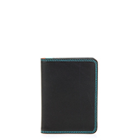 Credit Card Holder w/Plastic Inserts-Black/Pace