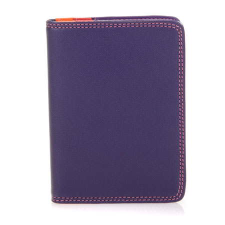 Credit Card Holder w/Plastic Inserts-Sangria Multi
