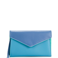 Cape Town Wristlet Envelope Purse-Aqua