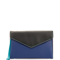 Cape Town Wristlet Envelope Purse-Black/Pace