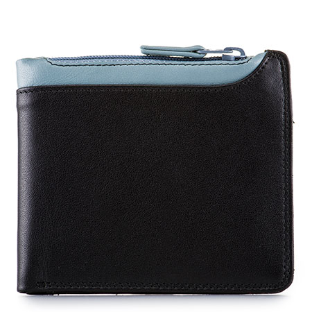 Greenwich Wallet with Middle Zip Section-Black