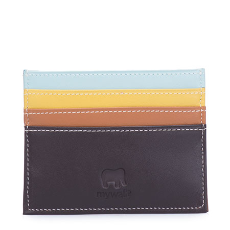 RFID Double Sided Credit Card Holder-Mocha