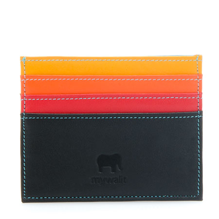 RFID Double Sided Credit Card Holder-Black/Pace