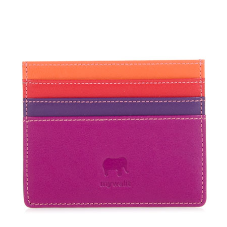 RFID Double Sided Credit Card Holder-Sangria Multi