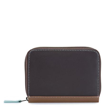 RFID Zipped Credit Card Holder-Mocha