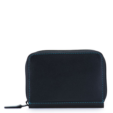 RFID Zipped Credit Card Holder-Black/Pace