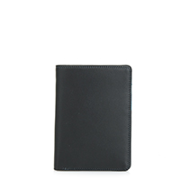 Continental Wallet with C/C Pockets-Black Grey