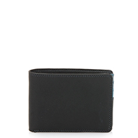 Jeans Wallet with Inner Leaf-Black Grey