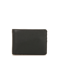 Jeans Wallet with Inner Leaf-Black