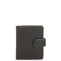 Tri-fold Tab Wallet-Black Grey