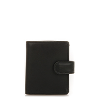 Tri-fold Tab Wallet-Black
