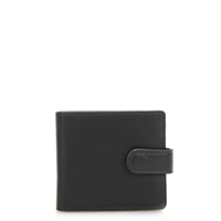 Tab Wallet w/inner leaf-Black Grey