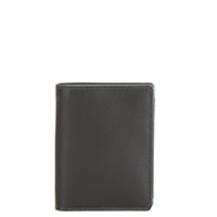 Wallet w/inner Leaf & Coin Pocket-Black Grey