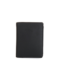 Wallet w/inner Leaf & Coin Pocket-Black