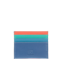 Double Sided Credit Card Holder-Aqua