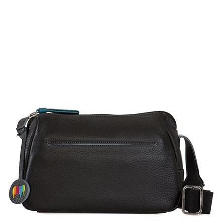 Santiago Small Shoulder Bag-Black Grey