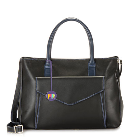 Cape Town Large Shopper-Black/Pace