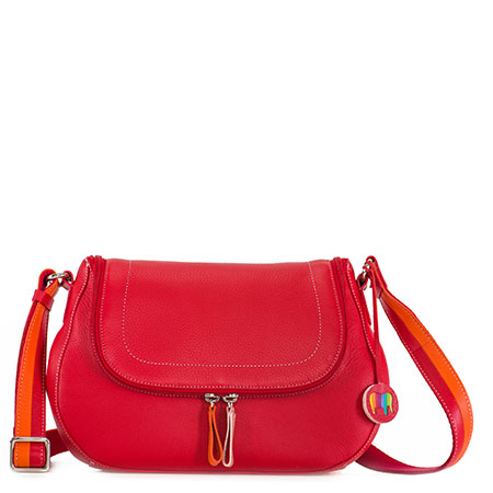Seoul Scoop Zip Shoulder Bag-Red