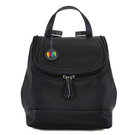 Seoul Zipped Backpack-Black Grey