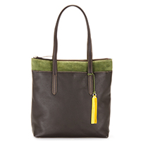 Nevada N/S Shopper-Brown/Evergreen