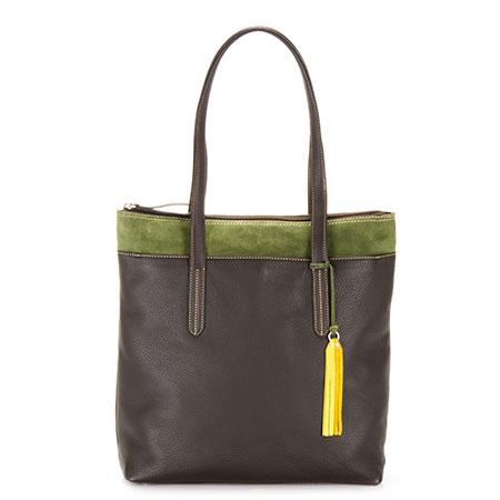 Nevada N/S Shopper-Brown/Evergreen