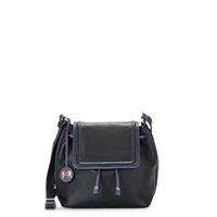 Porto Small Flap Over-Black/Pace