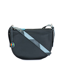 Riga Half Moon Bag-Black Grey