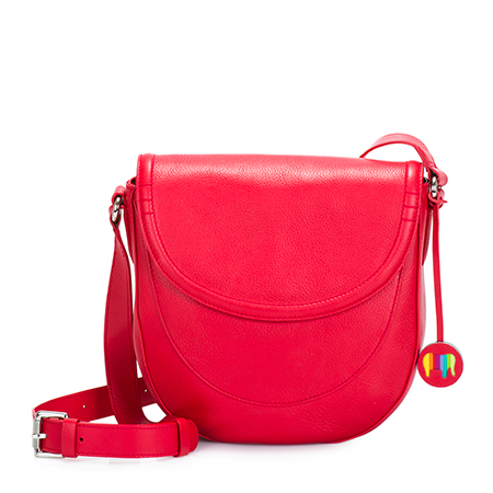 Vienna Small Satchel-Red