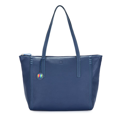 Vienna Large Tote-Blue