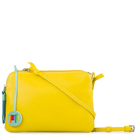 Bruges Double Zip Cross Body-Yellow