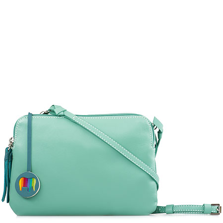 Bruges Double Zip Cross Body-Sage