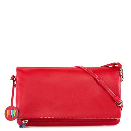 Bruges Foldover Clutch Bag-Red