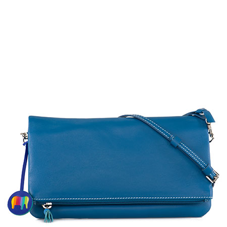 Bruges Foldover Clutch Bag-Sea Blue
