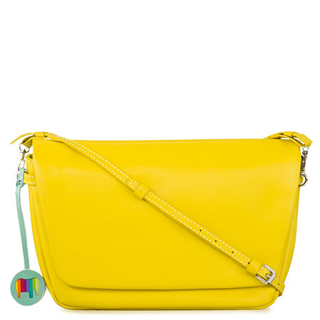 Bruges Flapover Cross Body-Yellow