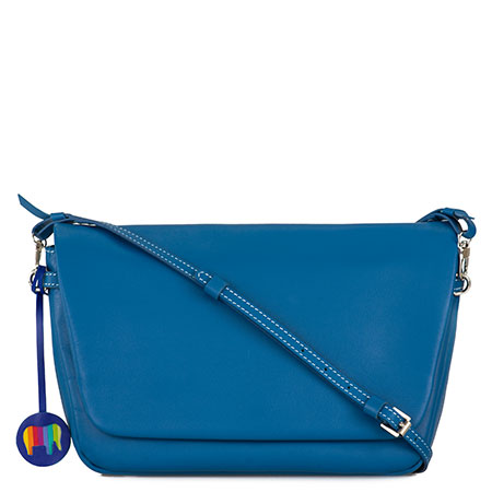 Bruges Flapover Cross Body-Sea Blue