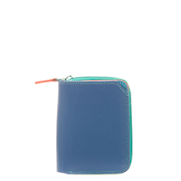 Small Zip Wallet-Aqua
